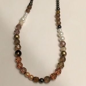 Jewelry - NWOT multiple earth tones beaded necklace